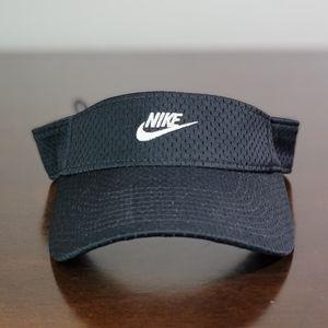Nike Sportswear NSW Black White Visor Hat Cap New